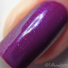 "Macro ""Forever Yours"" Chameleon Shifting Shimmer Topper over ""Kiss Tell""  Swatch by CDB Nails"