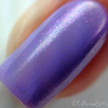 "Macro of ""Forever Yours"" Chameleon Shifting Shimmer Topper over ""Blow Me a Kiss""  Swatch by CDB Nails"