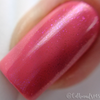 "Macro of ""Forever Yours"" Chameleon Shifting Shimmer Topper over ""French Kiss""  Swatch by CDB Nails"