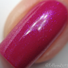 "Macro of ""Forever Yours"" Chameleon Shifting Topper over ""Kiss & Makeup""  Swatch by CDB Nails"