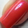 "Macro of ""Forever Yours"" Chameleon Shifting Topper over ""Kiss Goodbye""  Swatch by CDB Nails"