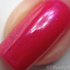 "Macro of ""Forever Yours"" Chameleon Shifting Topper over ""Kiss Off""  Swatch by CDB Nails"