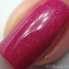 "Macro of ""Kiss & Makeup"" w/""Love Always"" Holographic Topper  Swatch by CDB Nails"