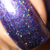 """Drama Queen"" Sassy Pants Polish Debut ""Find Your Sassy!"" Collection (FALL15) Swatched/Reviewed by Delicous Nails: ""ƒ??Drama Queenƒ? is a purple jelly holo with holo pink and teal micro glitter.  Shown is two coats plus top coat."""