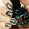 """""""Bad Witch"""" shown over """"Tin Man"""" Holiday '15 """"Wizard of Oz"""" Collection  Swatch by Delicious Nails"""
