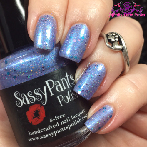 Ice Princess from the Snow Queen Winter '16 Trio  Swatched by Tiffany from Polish and Paws. Swatches show 3 thin coats with glossy top coat.
