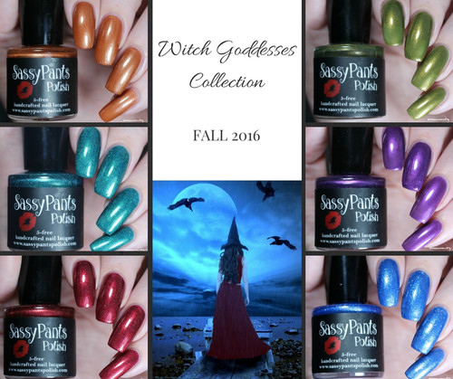 Witch Goddesses Collection (mini bottles shown)  by Sloppy Swatches