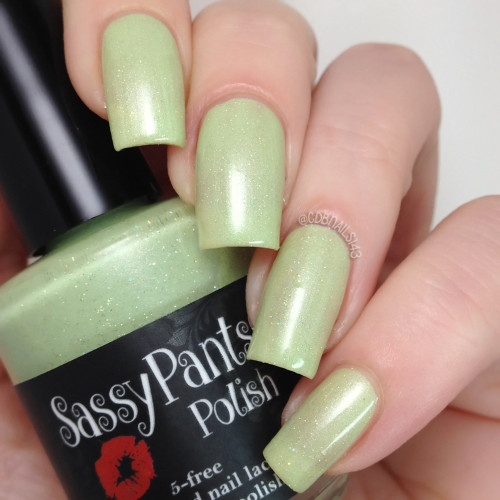 Mint Frosting Two coats plus glossy top coat. Swatch by CDB Nails