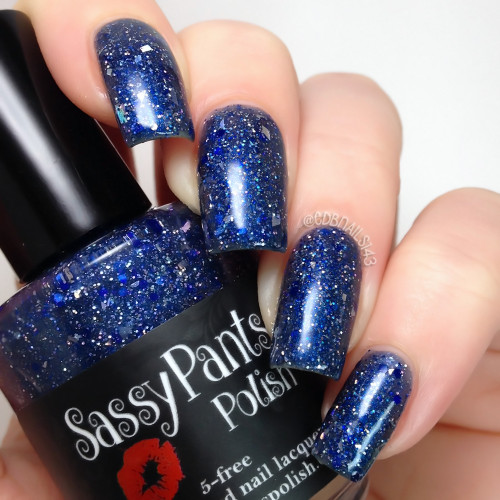 """""""To All a Good Night""""  3 coats plus glossy top coat CDBNails"""