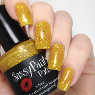 """Luster of Midday""  3 coats with glossy top coat CDBNails"