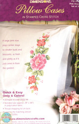 Dimensions - Pink Rose Pillowcases (2)