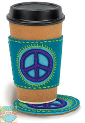 Dimensions -  Peace Sign Coaster and Cozy - SALE!