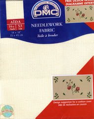 DMC - Ecru 14 Ct Aida Fabric 14 x 18 in