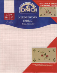 DMC - Baby Pink 14 Ct Aida Fabric 14 x 18 in