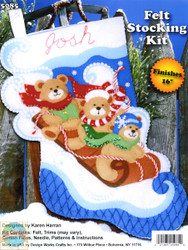 Design Works - Sledding Bears Stocking