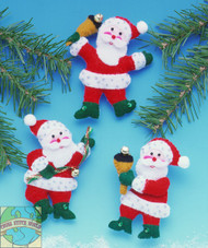 Design Works - Jingle Bell Santas Ornaments (3)