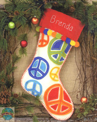 Dimensions -  Peace Signs Stocking