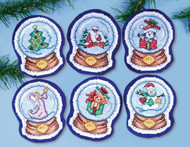 Design Works - Snowglobes Ornament Set (6)