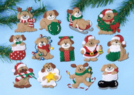 Design Works - Lotsa Puppies Ornaments (13)