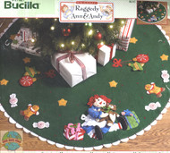 Plaid / Bucilla - Raggedy Ann and Andy Tree Skirt