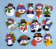 Design Works - Lotsa Fun - 13 Snowman Ornaments