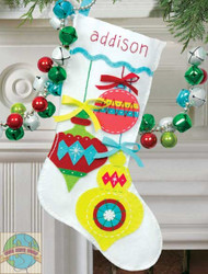 Dimensions - Bright Ornaments Stocking - SALE!