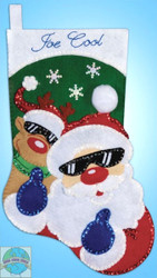 Design Works - So Cool Santa Stocking