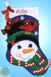 Design Works - Snowman & Cardinals Stocking