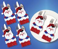 Design Works - Santa In Chimney Silverware Pockets (Set of 6)