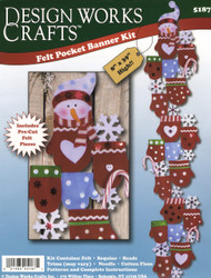 Design Works - Mittens Felt Pocket Banner Kit
