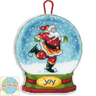 Dimensions - Joy Snow Globe Christmas Ornament
