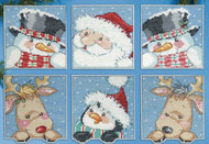 Design Works - Funny Friends Ornament Set (6)