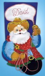 Design Works - Cowboy Santa Stocking