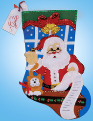 Design Works - Santa's List Stocking