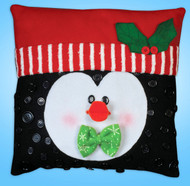 Design Works - Penguin Button Pillow