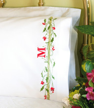 Dimensions - Holly Border Pillowcases
