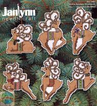 Janlynn - Festive Reindeer Ornaments (6)
