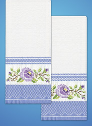 Design Works - Purple Rose Towels (2)