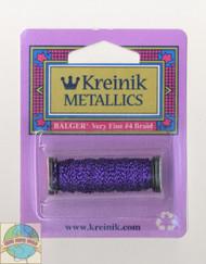 Kreinik Metallics Very Fine #4 Punchy Purple 026L