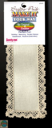Janlynn - Ivory 18 Ct Cross Stitch Lace Bookmark