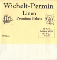 Wichelt - 32 Ct Antique White Linen 18 x 27 in