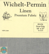 Wichelt - 32 Ct Dove Gray Linen 18 x 27 in