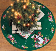 Plaid / Bucilla - Candy Snowman Tree Skirt