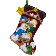 Plaid / Bucilla - Nativity Stocking