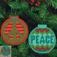 Dimensions - Set of 2 Jolly Peace Ornaments