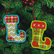 Dimensions - Set of 2 Jolly Stocking Ornaments