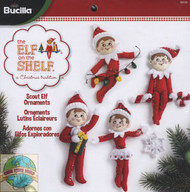Plaid / Elf on the Shelf - Scout Elf Ornaments (4)