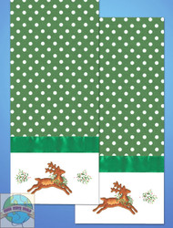Design Works - Reindeer Towels (2) w/Floss