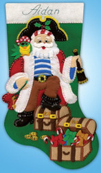 Design Works - Pirate Santa Stocking
