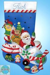 Design Works - Flying Santa Stocking